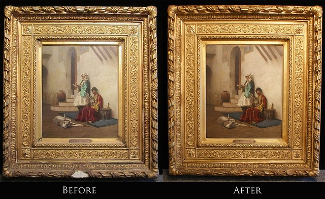 Gerome painting frame restoration