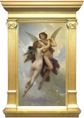 Bouguereau painting in tabernacle style frame