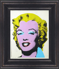 Andy Warhol's iconic Marilyn Monroe print and frame