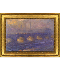 Claude Monet's painting 'Waterloo Bridge' and frame