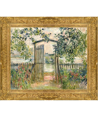 Claude Monet's Port au Jardin and frame