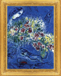 Marc Chagall painting in frame