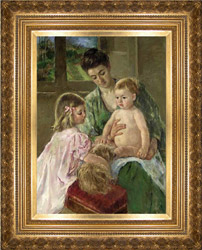 Mary Cassatt painting with frame sold at Christie's