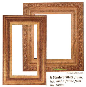 A standford White frame and a frame from the 1880s