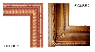 Many reproduction frames are made using molds and patterns, and often by factory workers who have little or no exposure to the period frame they are trying to recreate