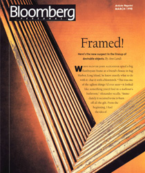 Bloomberg Personal magazine showing corner of picture frame