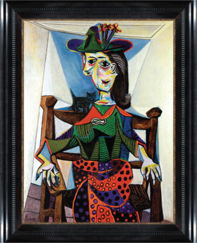 Picasso painting in a frame by Eli Wilner