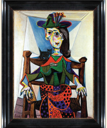 Dora Maar au Chat, by Picasso, in a Wilner frame