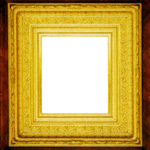 Gilded frame of 1870s shadow box, which features applied ornament
