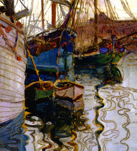 Harbour of Trieste by Egon Schiele in 1907