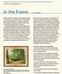 Art Collection Management feature, 'In The Frame'