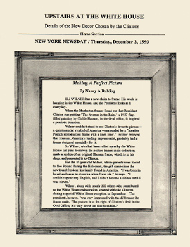 Frame containing a copy of the article as it appeared in the magazine