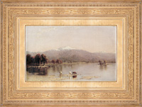 Sanford Robinson Gifford painting with historically appropriate replica frame at the New Britain Museum of Art
