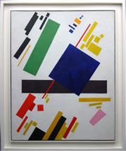 Kazimir Malevich - Suprematist Composition, painting with frame