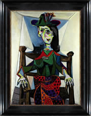 Picasso - Dora Maar au Chat, painting with frame