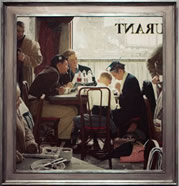 Norman Rockwell, painting with frame