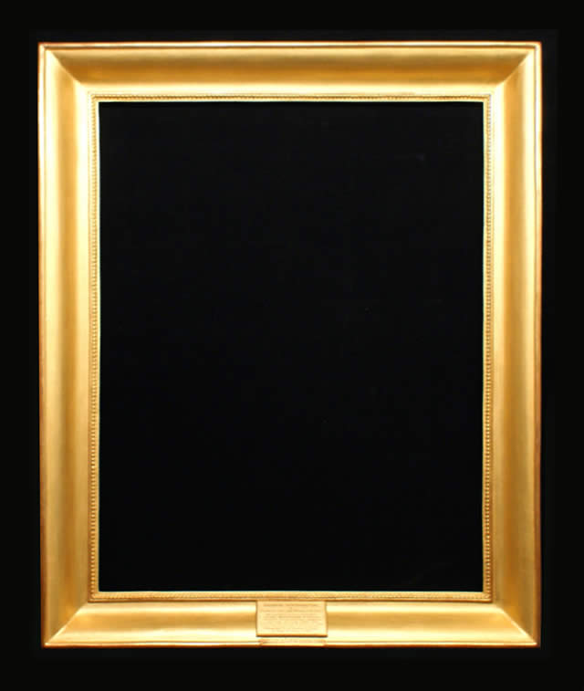 Gilded frame with Nameplate