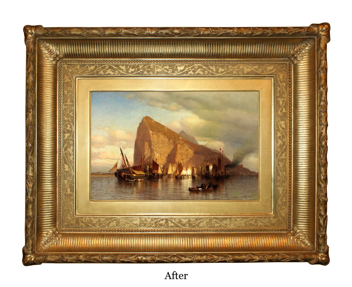Eli wilner frame restoration services clearing storm at gibraltar frame after restoration jeuxipadfo Images
