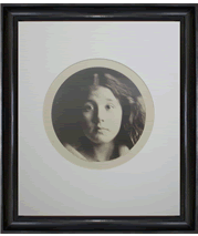 Julia Margaret Cameron's headshot of Kate Keown and frame