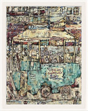 Jean Dubuffet painting and frame sold by Sotheby's