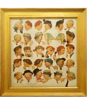 Norman Rockwell painting and frame