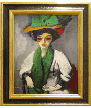 Kees van Dongen painting and frame