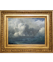 Albert Bierstad - Storm Clouds painting with French-style reproduction frame