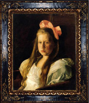 Thomas Eakins - Ruth painting with French-style reproduction frame
