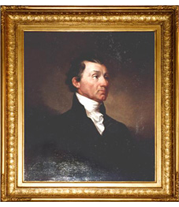 Samuel F.B. Morse - James Monroe painting with French-style reproduction frame