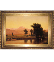 Worthington Whittredge painting at The White House French-style reproduction frame