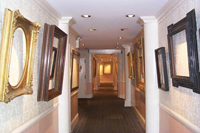 Picture frames in gallery