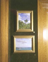 Simon Parkes paintings in contemporary replica frames